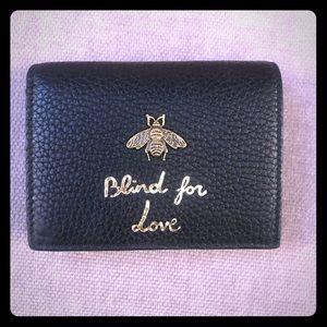 Gucci Animalier card case wallet